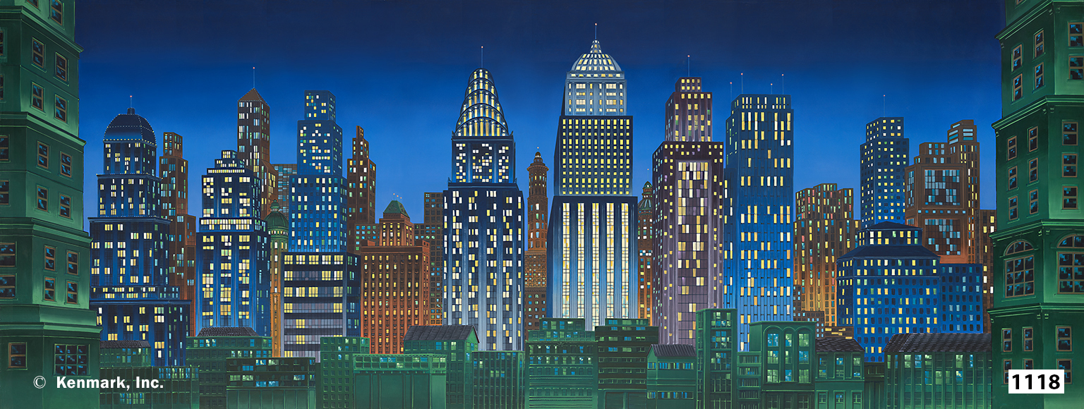 D1118 City at Night 17x45