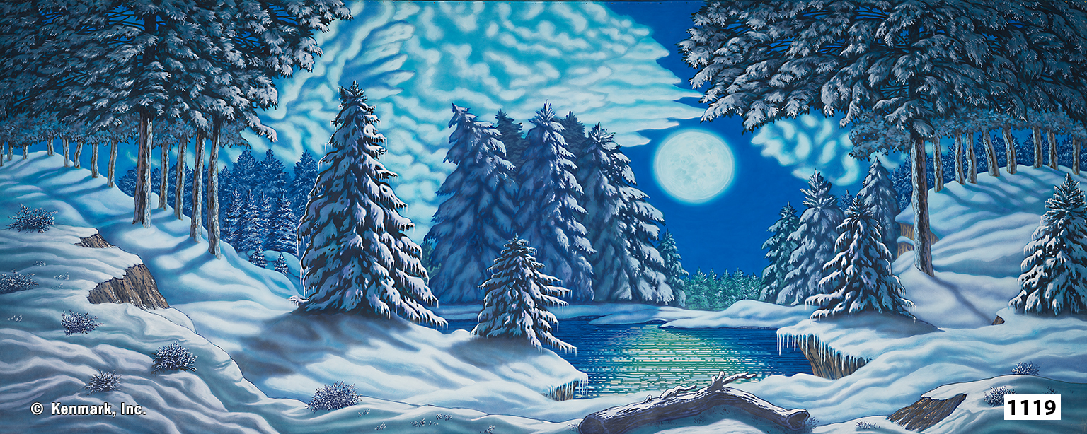 1990 Snow Forest with Moon