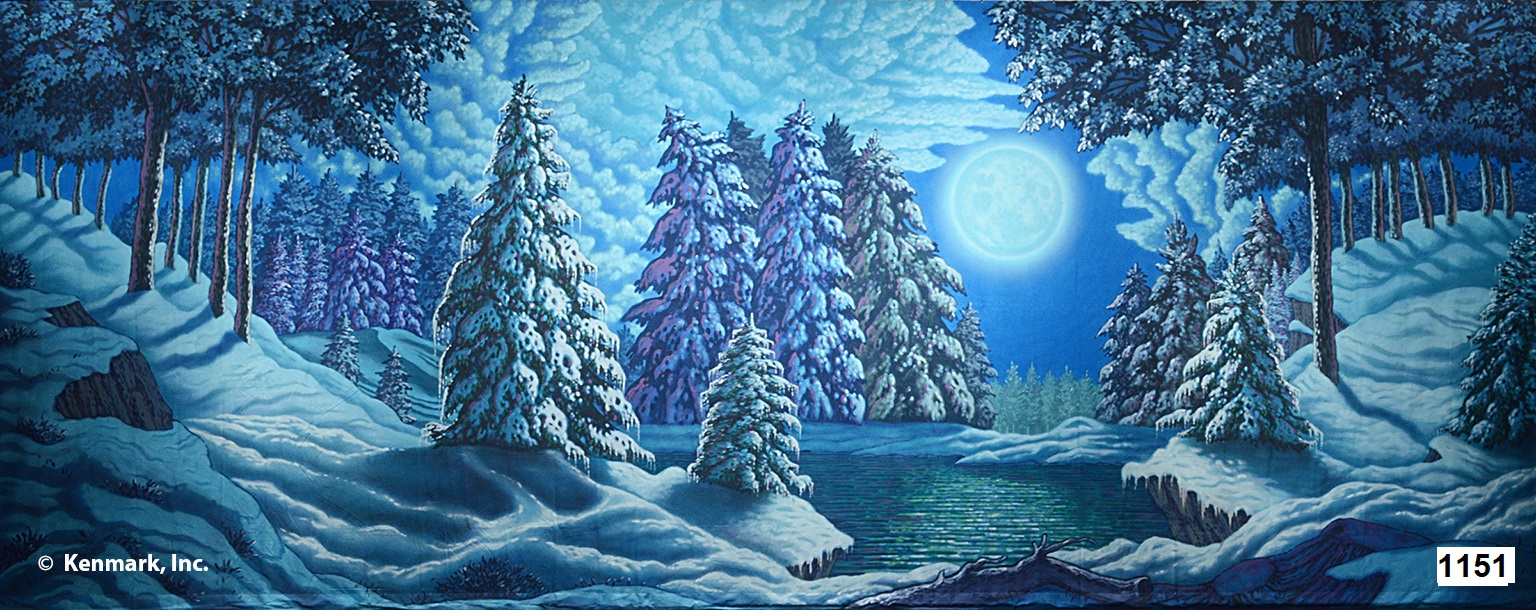 2077 Snow Forest w/Moon