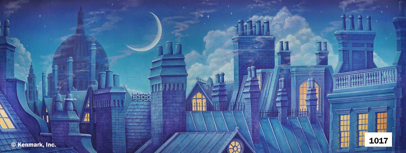 1522 Rooftops with Moon