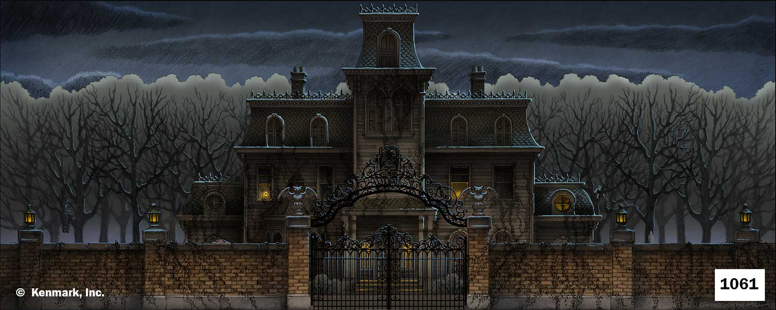 ED1061 Addams Family Home Exterior Show Curtain