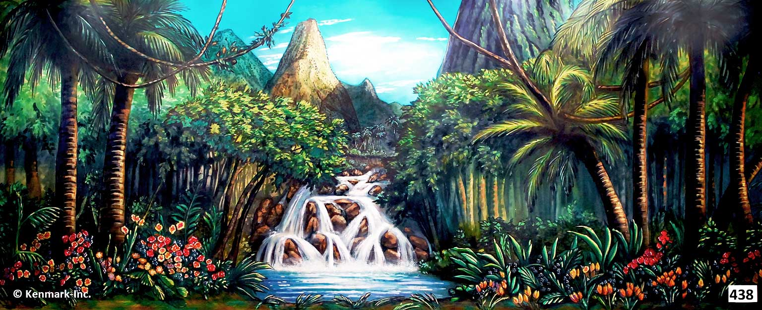 D438 Jungle with Waterfall