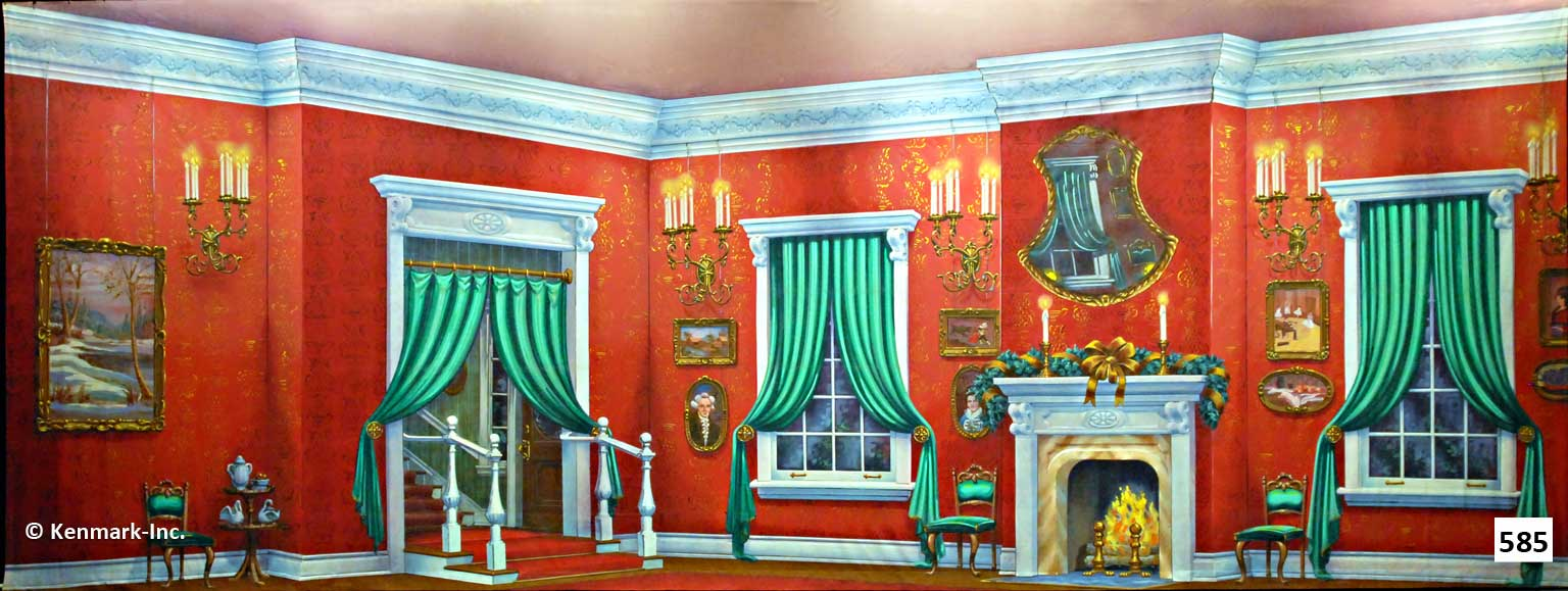 1396 Red Victorian Living Room