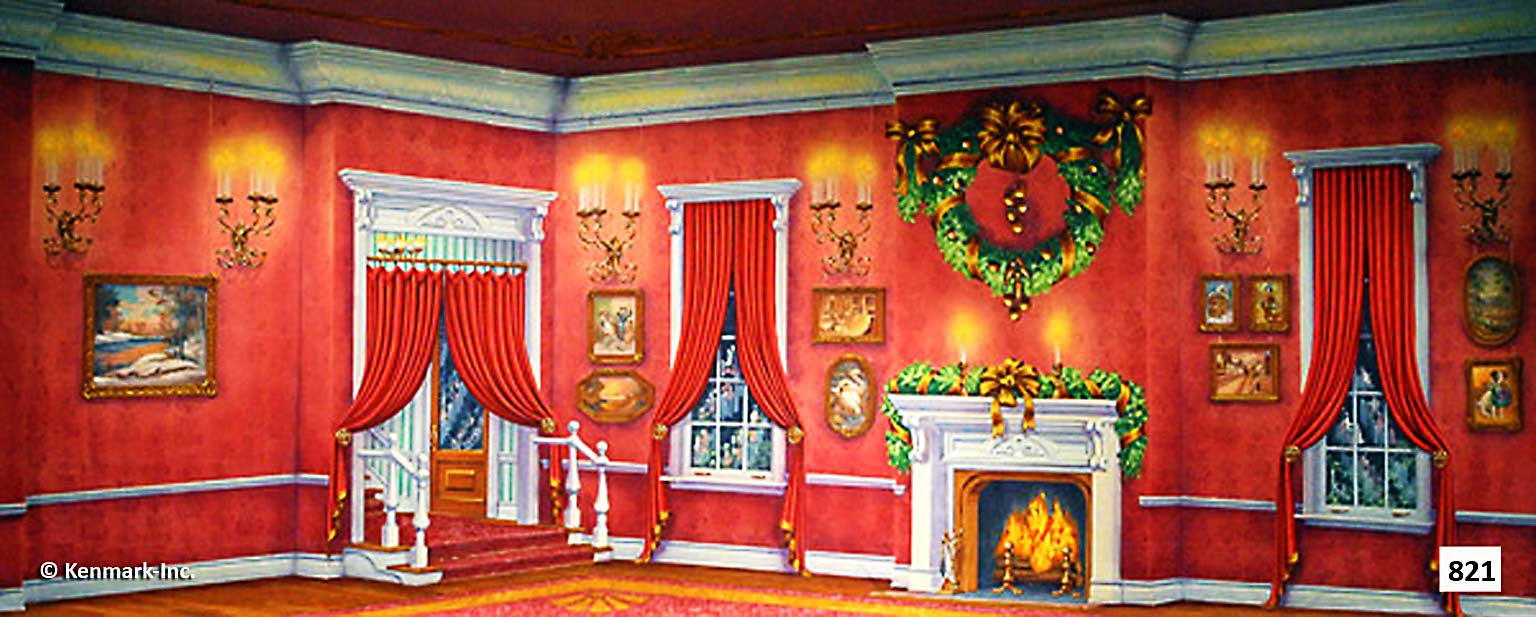 1460 Red Victorian Living Room