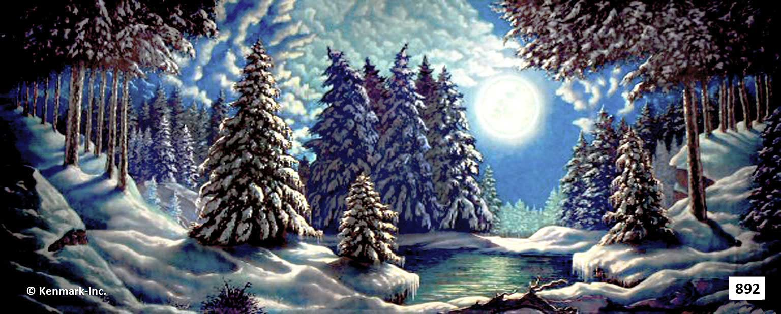 1478 Moonlit Snow Forest