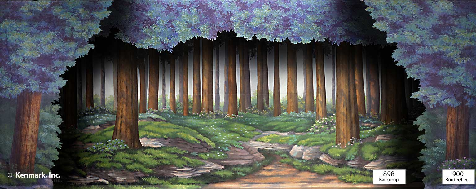 ED898 Forest Tall Trees with 900 Border